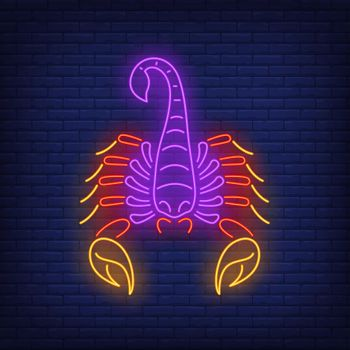 Cancer neon sign