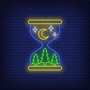 Nighttime neon sign