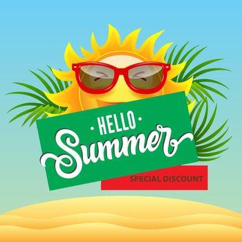 Hello summer, special discount poster design