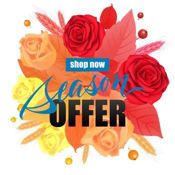 Shop now Season offer lettering