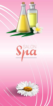 Spa brochure design with chamomile