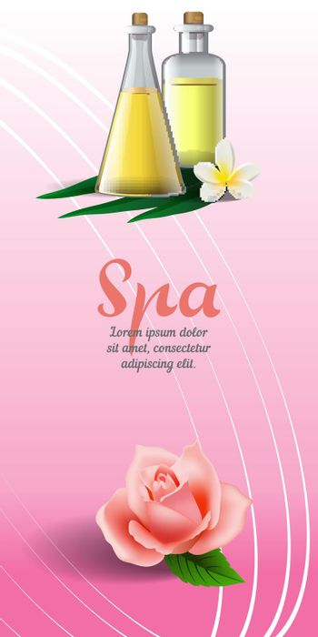 Spa brochure design with rose