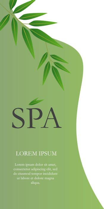 Spa lettering with hanging twigs