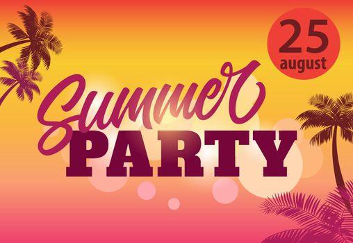 Summer party, august twenty five flyer design