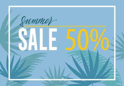 Summer sale fifty percent banner design