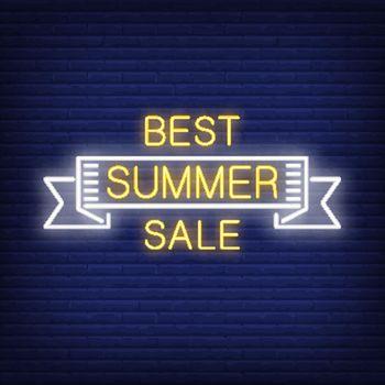 Best summer sale scroll in neon style