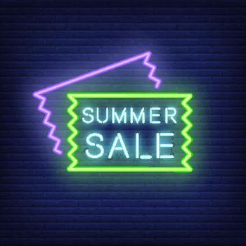 Summer Sale neon signboard design