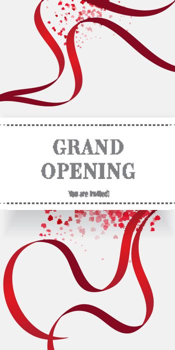 Grand opening you are invited flyer design
