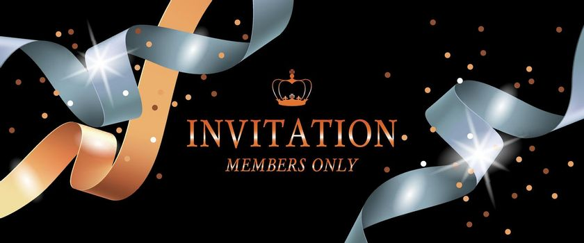 Invitation members only banner design