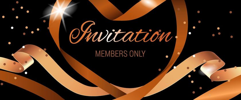 Invitation members only lettering