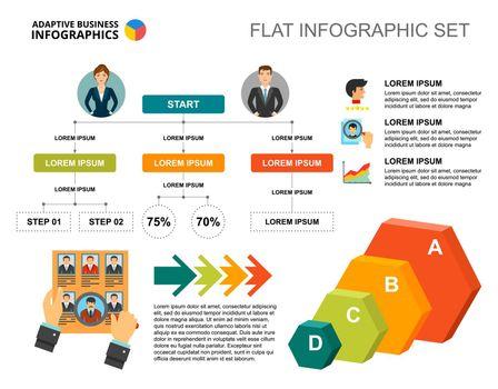 Recruitment flowchart template for presentation