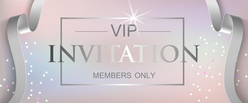 VIP invitation members only lettering