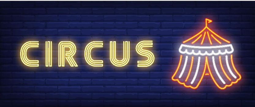 Circus neon style banner