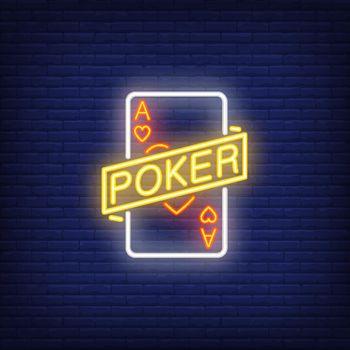 Poker neon sign