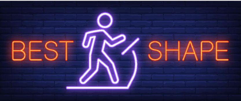 Best Shape neon sign