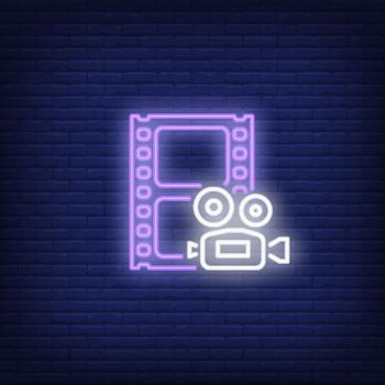 Footage neon sign