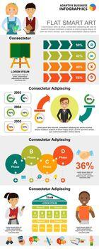 Education and marketing charts set