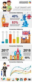 Great Britain infochart diagrams set