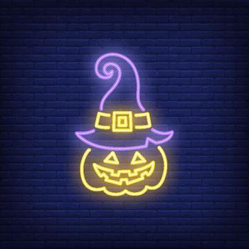 Jack o lantern neon sign