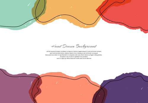 Abstract template bright paint transparency on white background with space for your text. Vector illustration