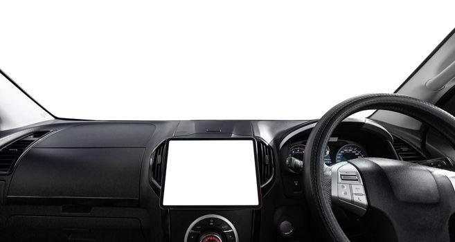 Dashboard car console.