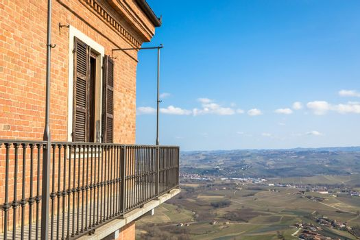 Barolo and Barbaresco countryside in Piedmont region, Italy.