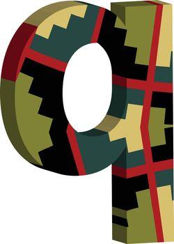 3d font letter q