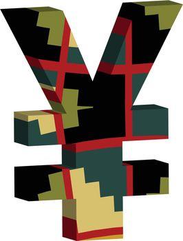 3d YEN symbol