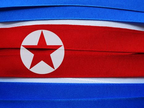 North Korea flag or banner