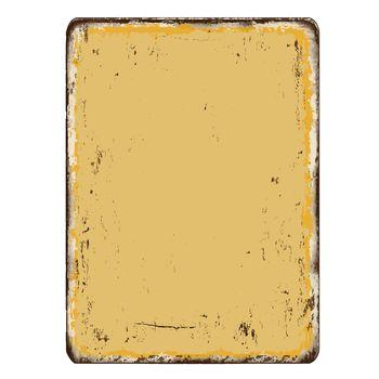 Blanked vintage rusty metal plate