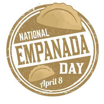 National empanada day  grunge rubber stamp