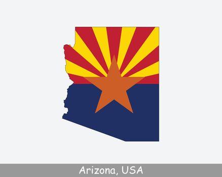 Arizona Map Flag