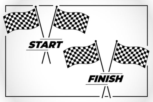 checkered flag for start and finish race