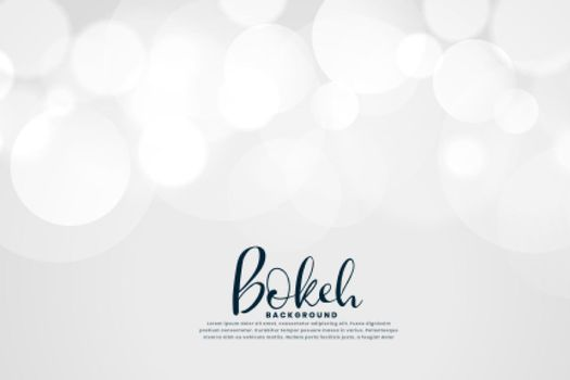 white background with bokeh lights effect