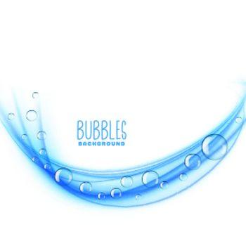 wavy blue bubbles background design