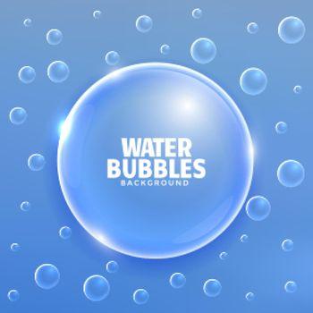 elegant blue shiny bubbles background