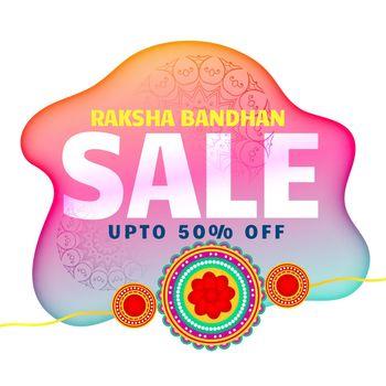 artistic raksha bandhan sale background