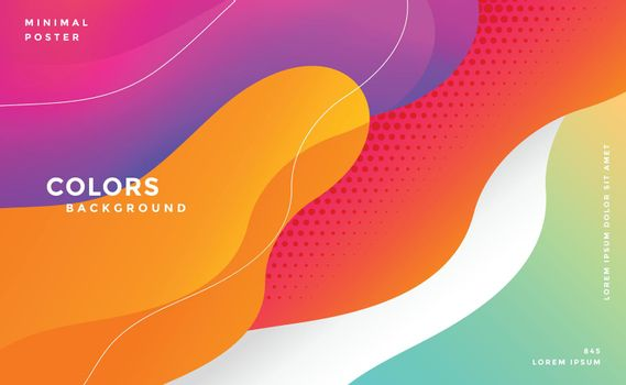 dynamic modern colorful fluid style background
