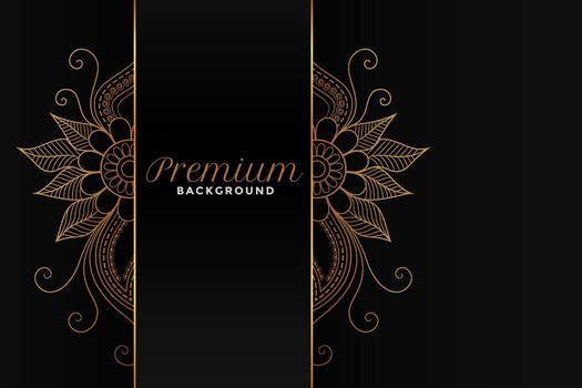 lovely ornamental floral decoration dark background