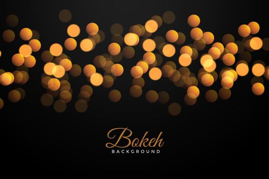 black background with golden bokeh effect