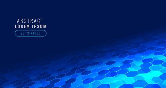 futuristic digital hexagonal tech pattern in perspective style