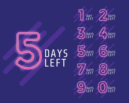 number of days left banner for marketing