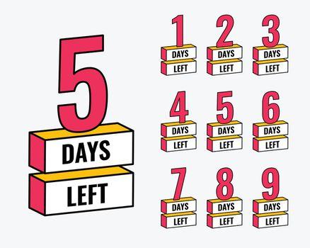 number of days left countdown banner design