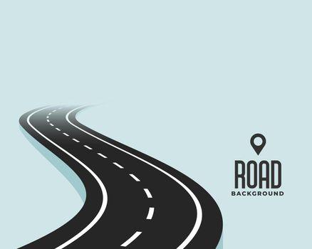 winding curve black road path background design