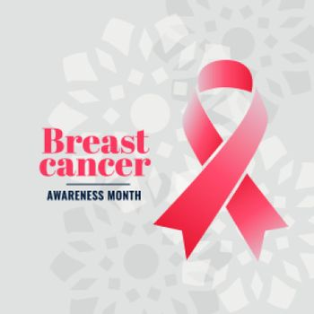 breast cancer awareness month campaign poster design