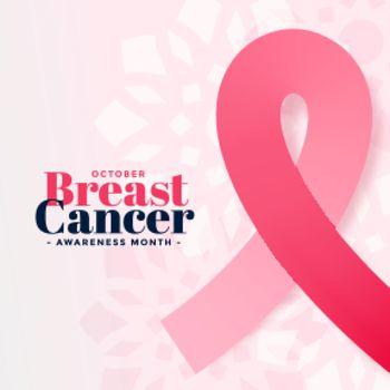 breast cancer awareness october month poster design