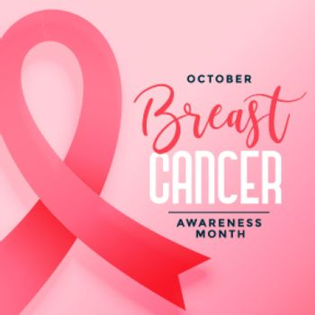 october awareness month of breast cancer poster design