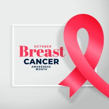 breast cancer awareness month poster design background