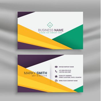 stylish creative business card with geometric shapes