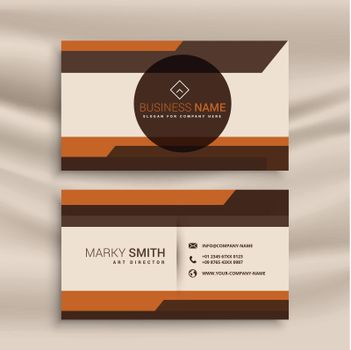 corporate business card in geometric style design
